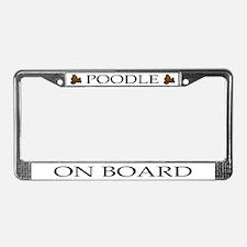 Cartoon Poodle License Plate Frame