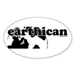 Earthican Oval Sticker