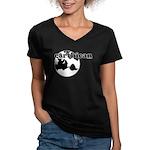 Earthican Women's V-Neck Dark T-Shirt