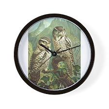 Hawk Owl Wall Clock