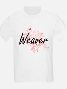 Weaver Artistic Job Design with Butterflie T-Shirt