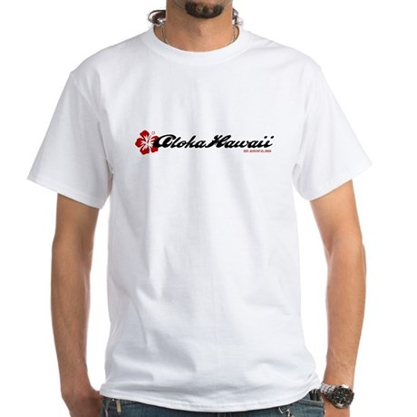 Aloha Flower White T-Shirt