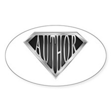 SuperAuthor(metal) Oval Decal