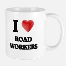 I Love Road Workers Mugs