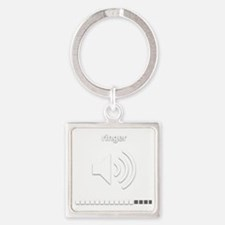 Funny Ringer Square Keychain