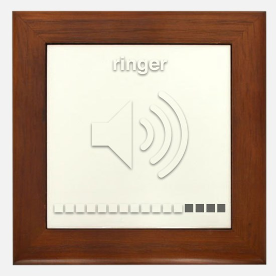Cute Ringer Framed Tile