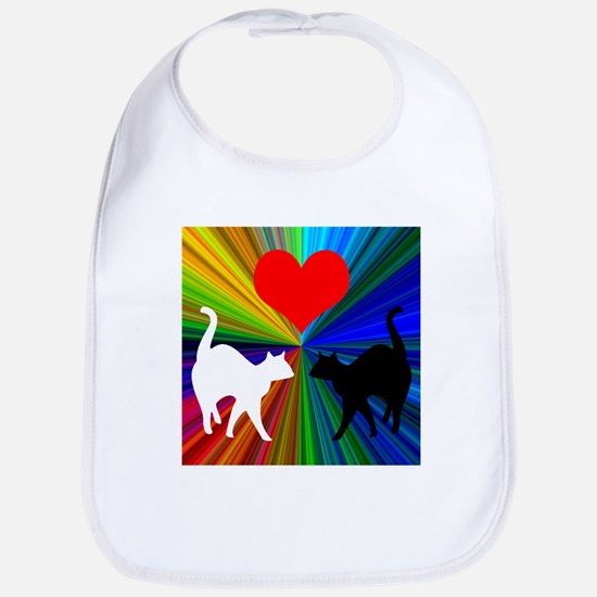 RAINBOW LOVE CATS Bib