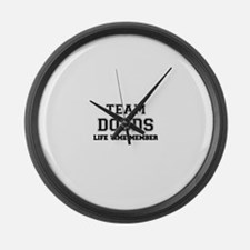 Team DODDS, life time member Large Wall Clock