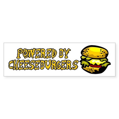 Powered By Cheeseburgers Sticker (Bumper)