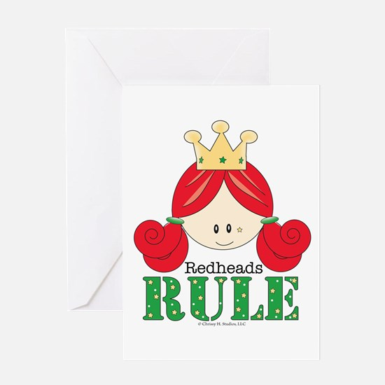 Redheads Rule Redhead Greeting Card