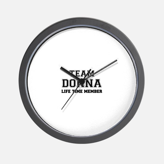 Team DONNA, life time member Wall Clock