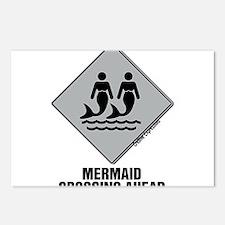 Mermaid Crossing Ahead Postcards (Package of 8)