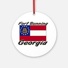 Fort Benning Georgia Ornament (Round)