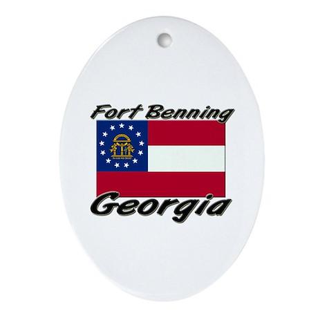 Fort Benning Georgia Oval Ornament