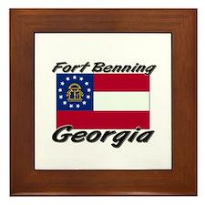 Fort Benning Georgia Framed Tile