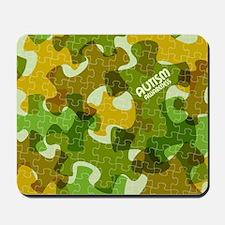 Autism Awareness Puzzles Camo Mousepad