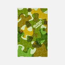 Autism Awareness Puzzles Camo Area Rug