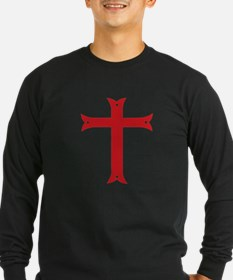 Knights Templar Cross Long Sleeve T-Shirt