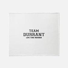 Team DURRANT, life time member Throw Blanket