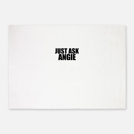 Just ask ANGIE 5'x7'Area Rug