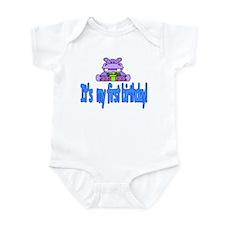 Hippo first birthday Infant Bodysuit