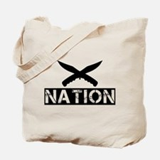 crossed knives nation Tote Bag