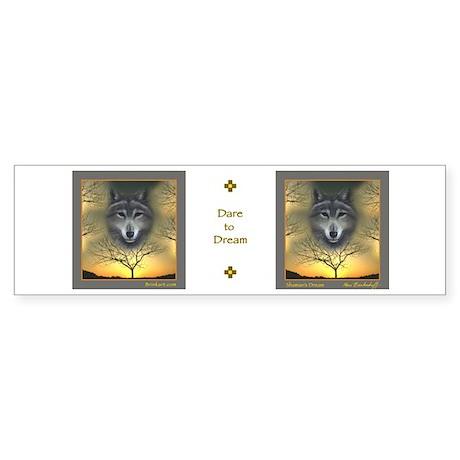 Wolf - 'Shaman's Dream' Bumper Sticker