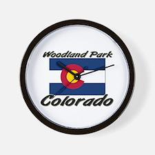Woodland Park Colorado Wall Clock