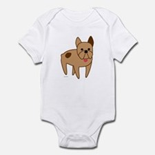 French Bulldog Cartoon Infant Bodysuit