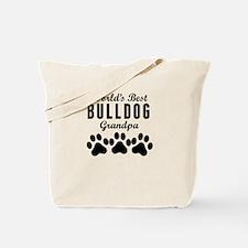 World's Best Bulldog Grandpa Tote Bag
