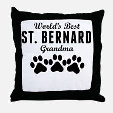 World's Best St. Bernard Grandma Throw Pillow