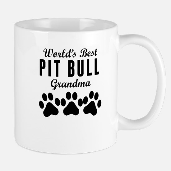World's Best Pit Bull Grandma Mugs