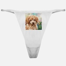 Poodle Painting Classic Thong
