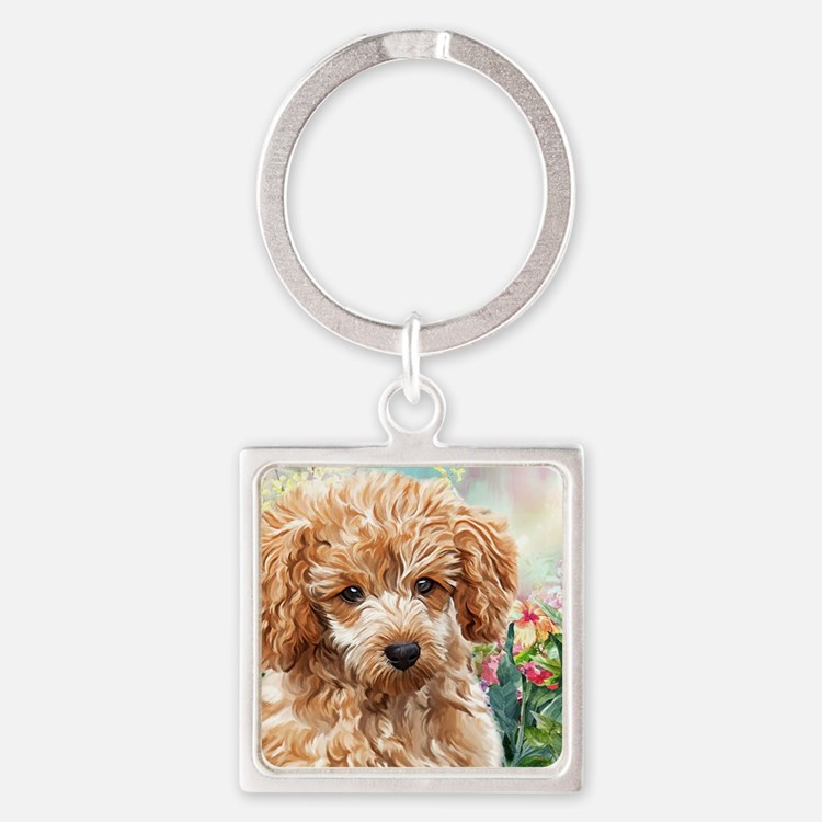 Poodle Painting Keychains