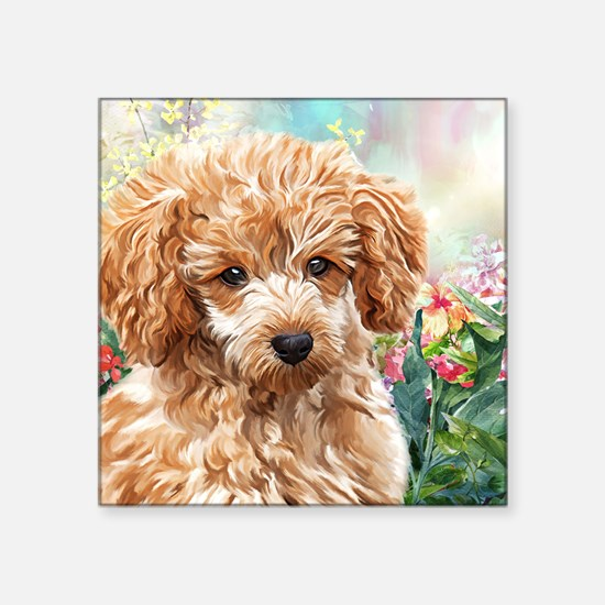 Poodle Painting Sticker