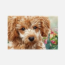 Poodle Painting Magnets