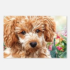 Poodle Painting Postcards (Package of 8)