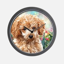 Poodle Painting Wall Clock
