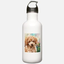 Poodle Painting Water Bottle