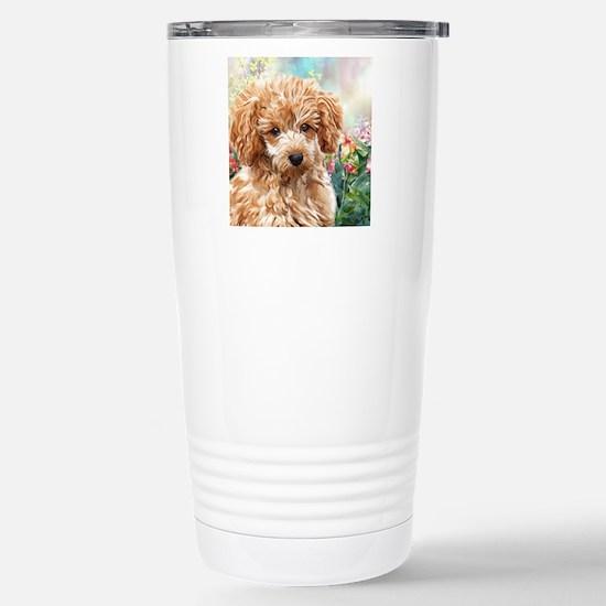 Poodle Painting Travel Mug