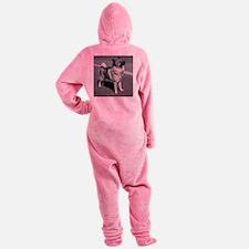 norwegian elkhound full 5 Footed Pajamas