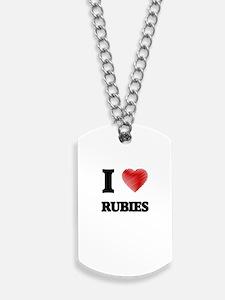 I Love Rubies Dog Tags