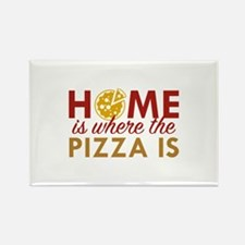 Home Is Where The Pizza Is Rectangle Magnet