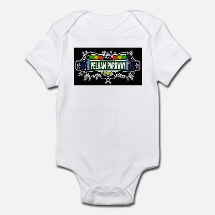 pelham parkway (Black) Infant Bodysuit