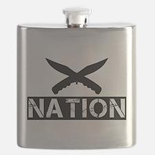 crossed knives nation Flask