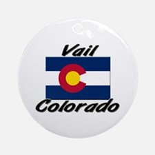 Vail Colorado Ornament (Round)