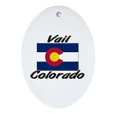 Vail Colorado Oval Ornament