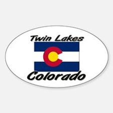 Twin Lakes Colorado Oval Decal
