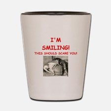 spanking joke Shot Glass