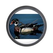 Wood Duck Wall Clock